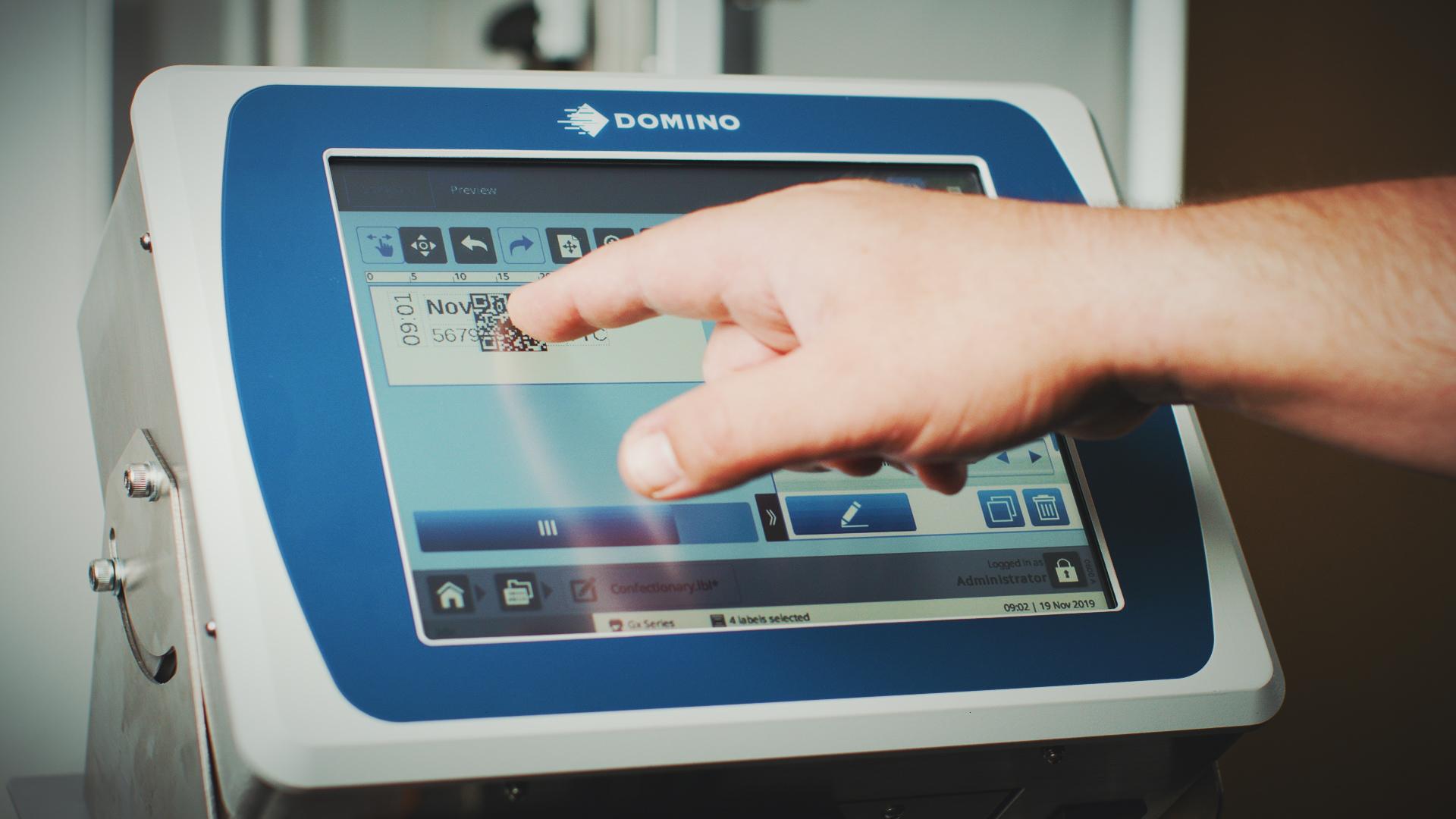 Operação touchscreen Gx350i